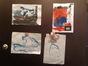 Рисунки Алекса (3,5 года)